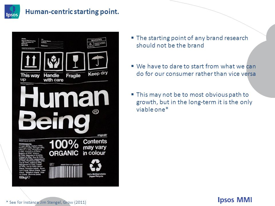 Human-centric starting point.