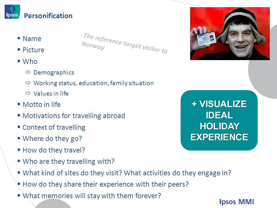 + VISUALIZE IDEAL HOLIDAY EXPERIENCE