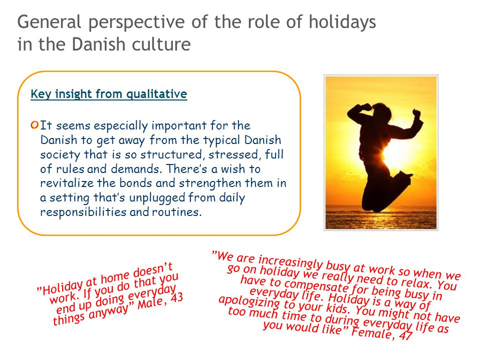 General perspective of the role of holidays in the Danish culture