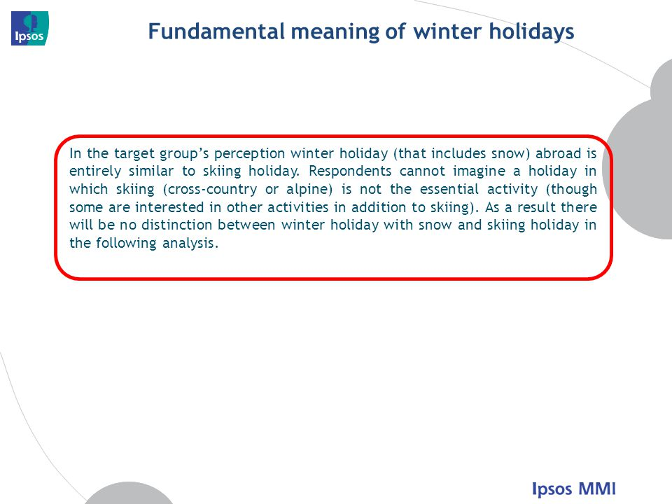 Fundamental meaning of winter holidays