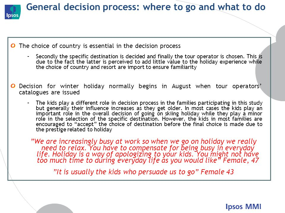 General decision process: where to go and what to do