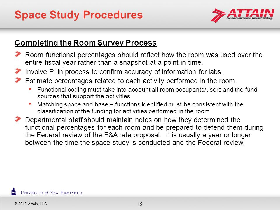 Space Study Procedures