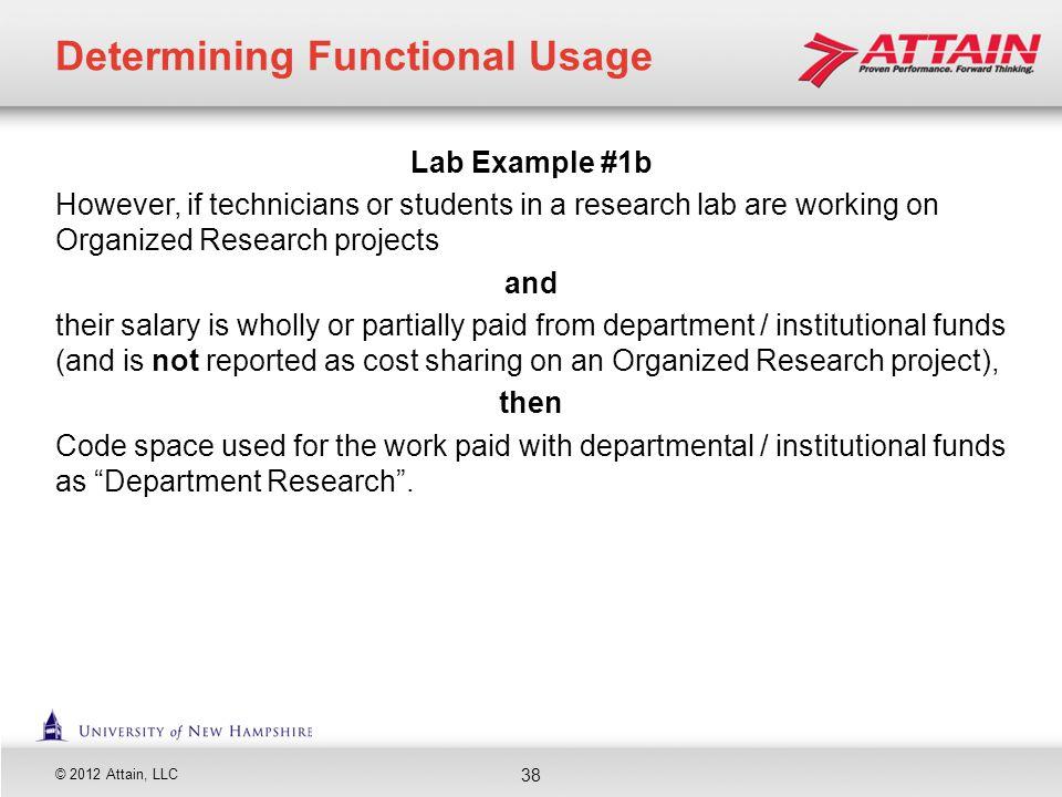 Determining Functional Usage