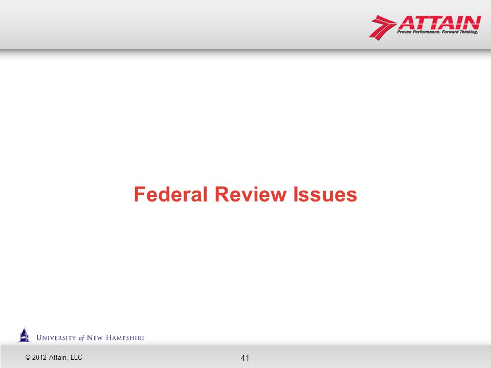 Federal Review Issues