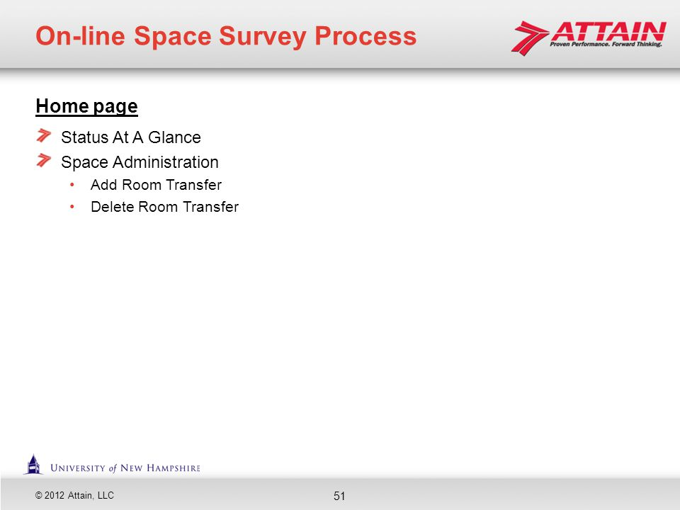 On-line Space Survey Process