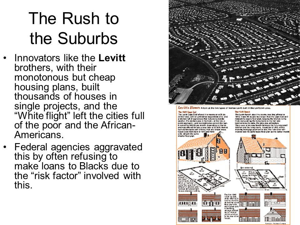 The Rush to the Suburbs