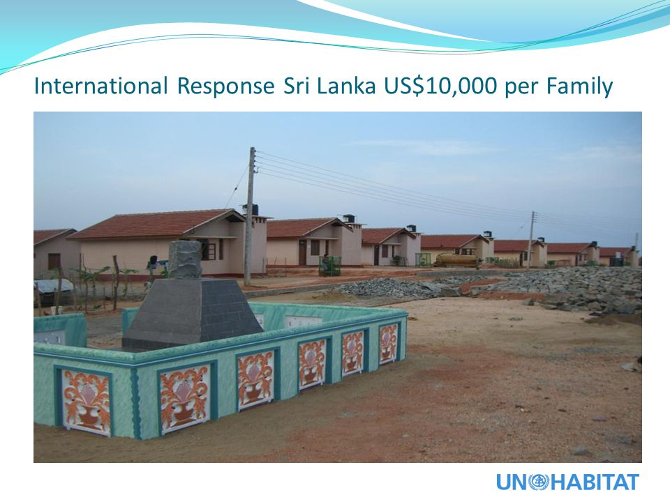 International Response Sri Lanka US$10,000 per Family