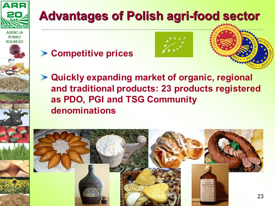 Advantages of Polish agri-food sector