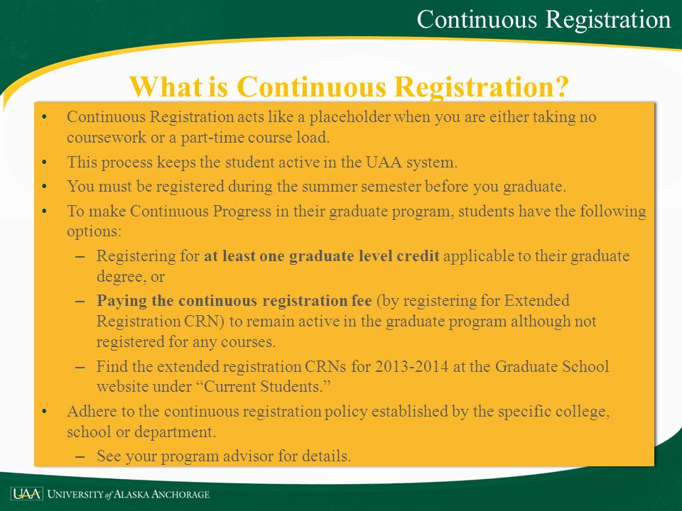 What is Continuous Registration