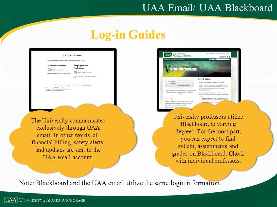 Log-in Guides UAA Email/ UAA Blackboard