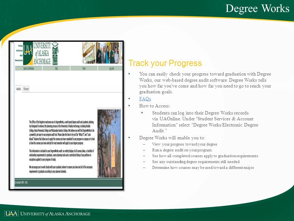Degree Works Track your Progress