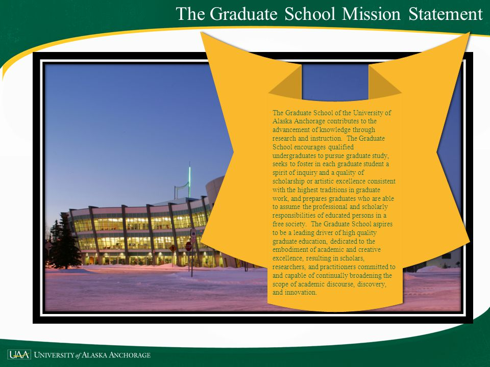 The Graduate School Mission Statement