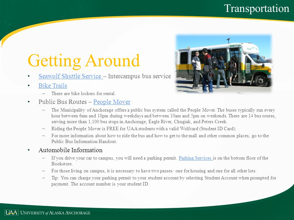 Getting Around Transportation