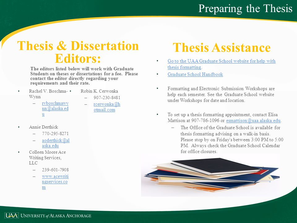 Thesis & Dissertation Editors: