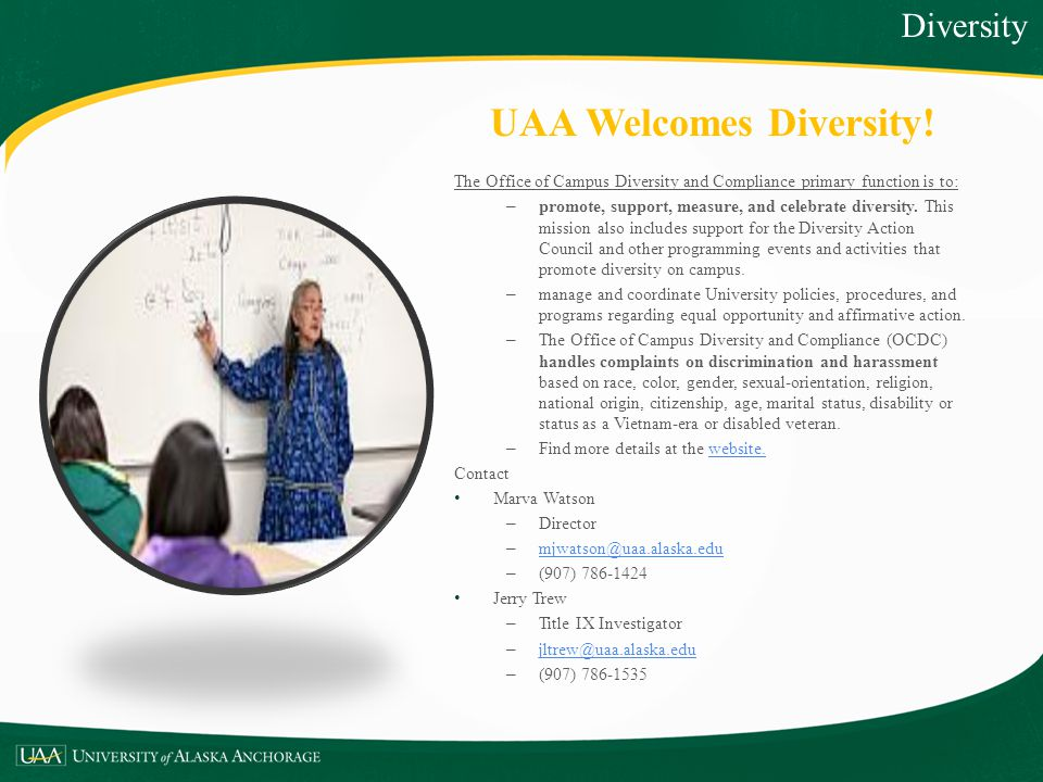 UAA Welcomes Diversity!