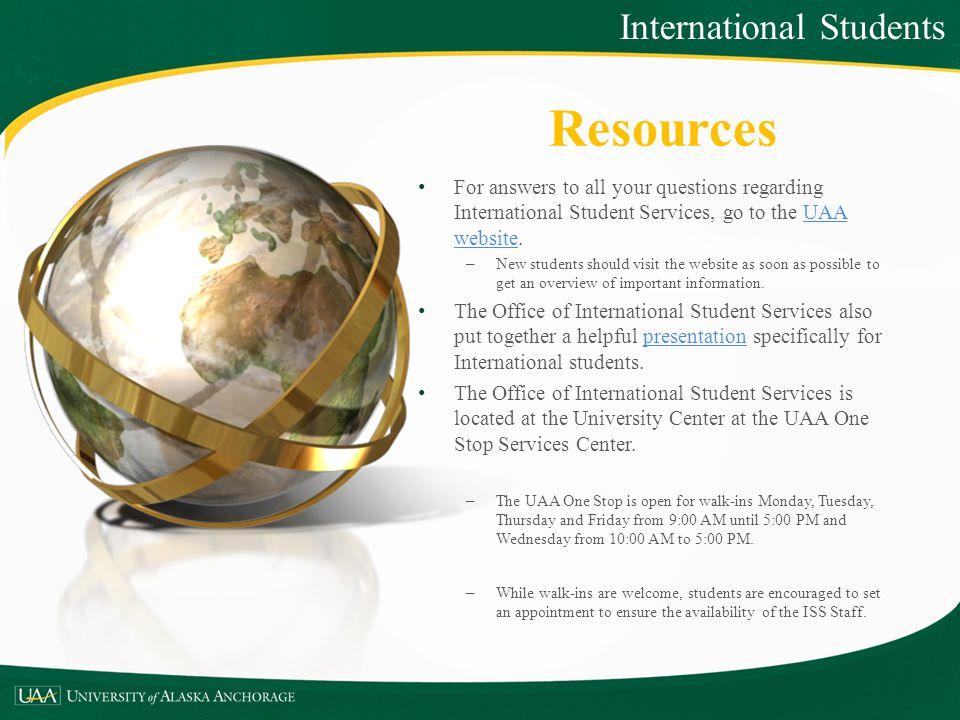 Resources International Students