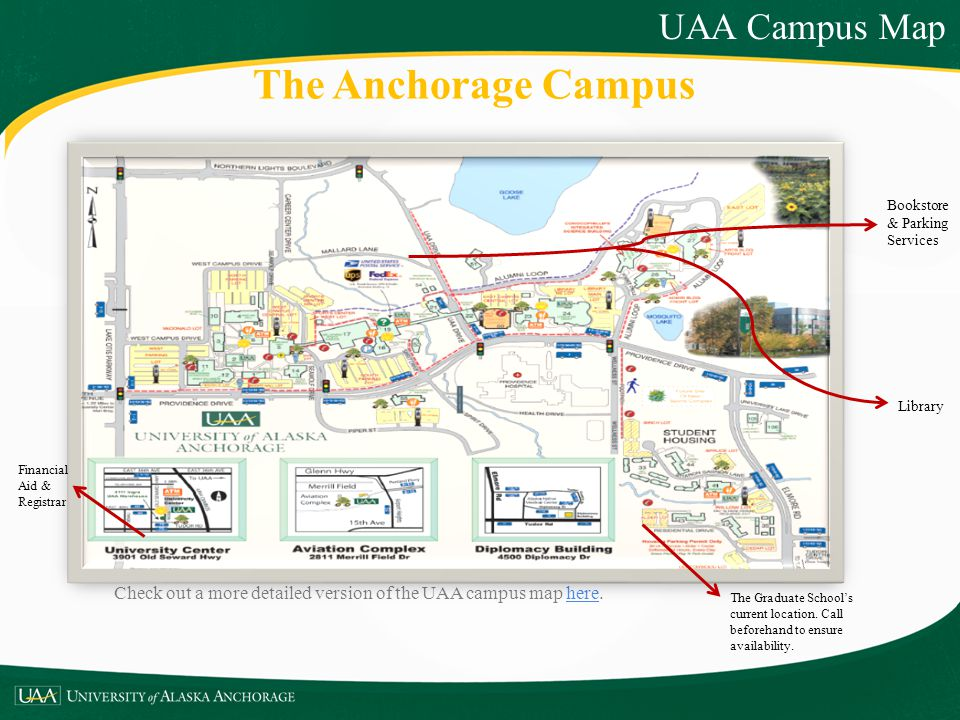 The Anchorage Campus UAA Campus Map