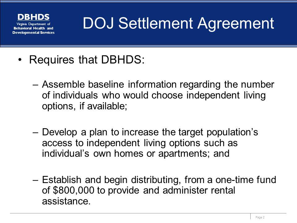 DOJ Settlement Agreement