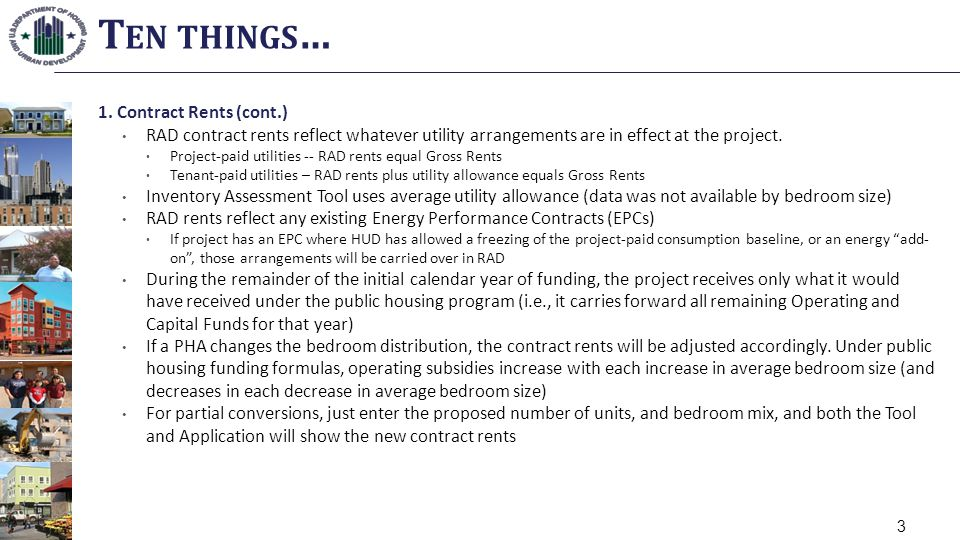 Ten things… 1. Contract Rents (cont.)