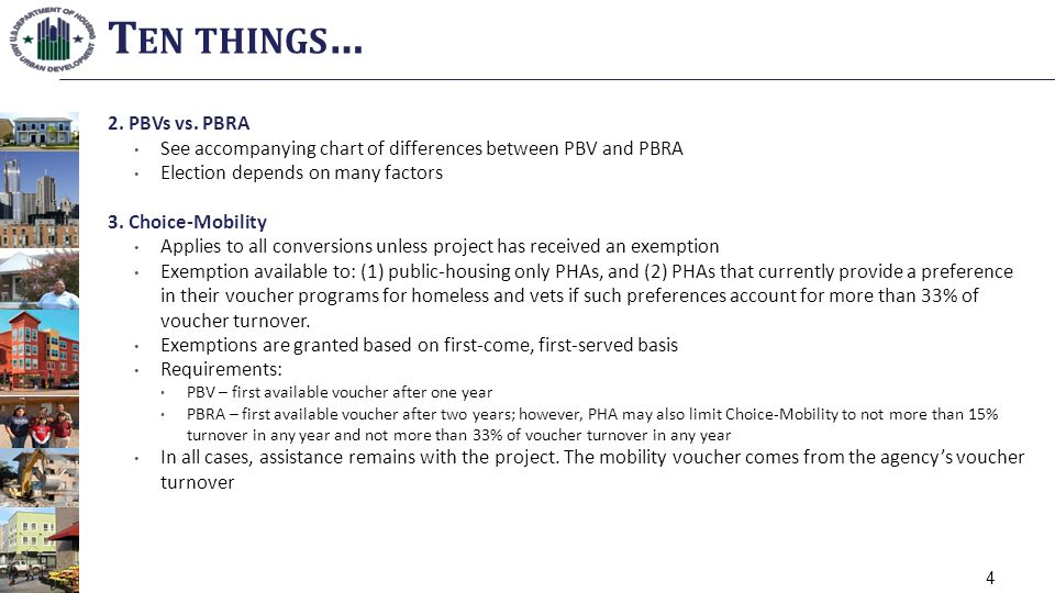 Ten things… 2. PBVs vs. PBRA