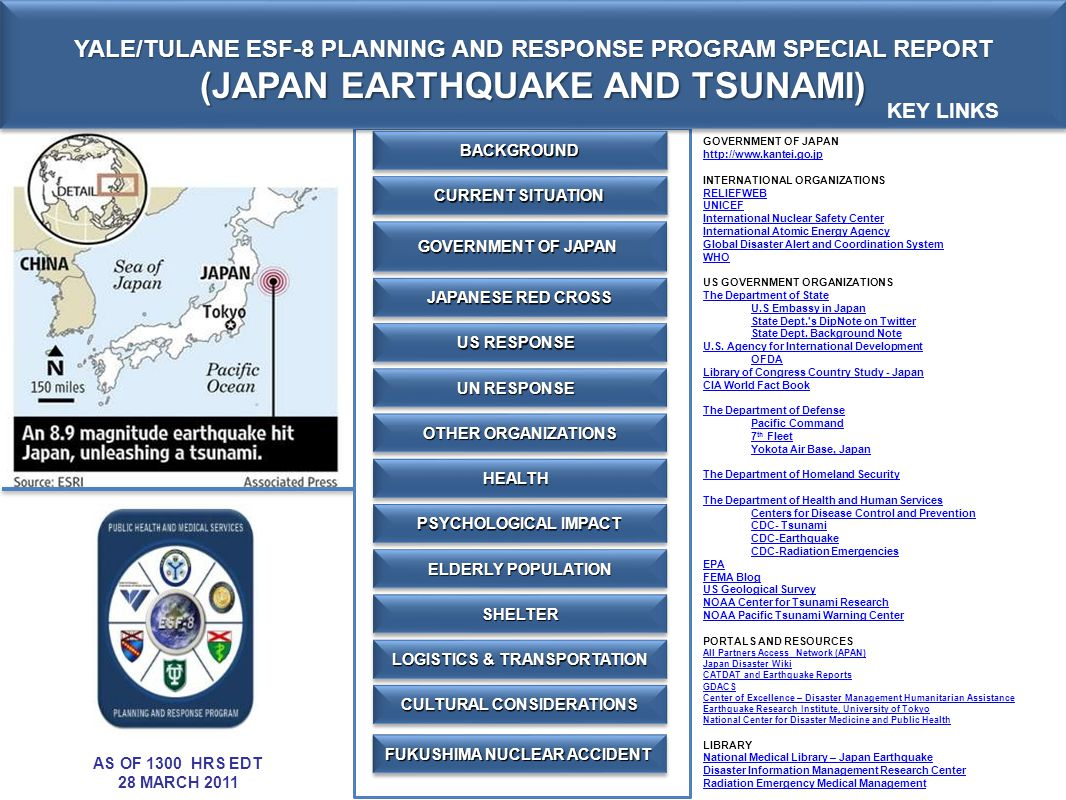 (JAPAN EARTHQUAKE AND TSUNAMI)