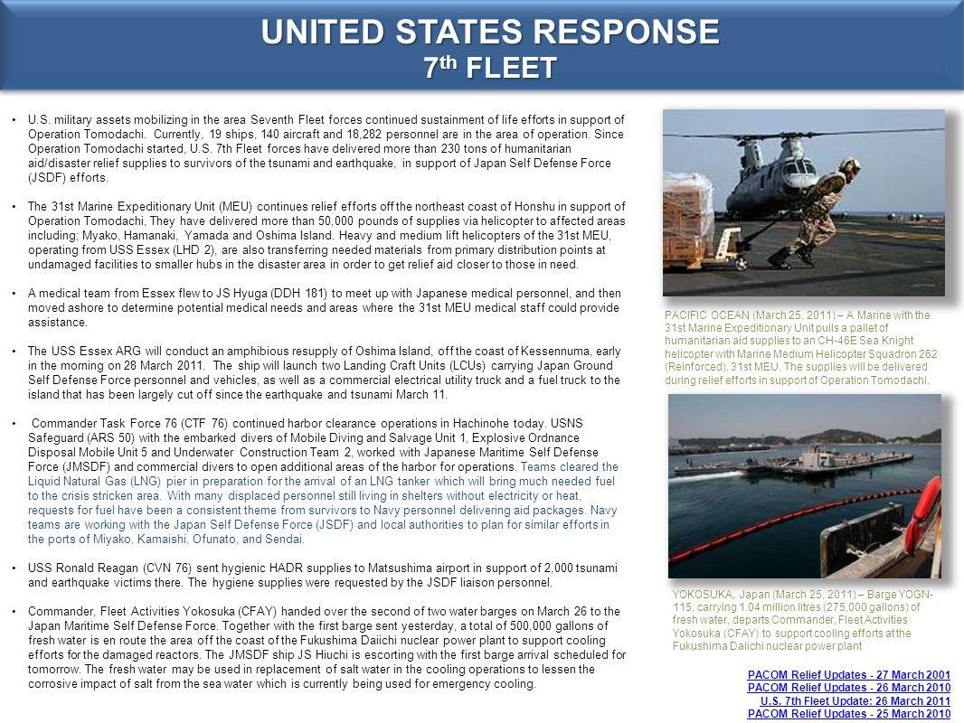 UNITED STATES RESPONSE 7th FLEET