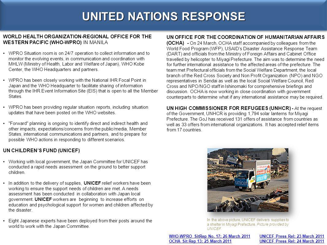 UNITED NATIONS RESPONSE