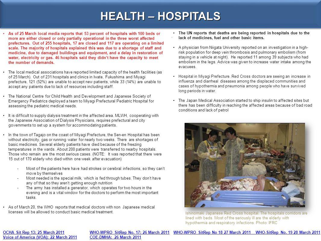 HEALTH – HOSPITALS