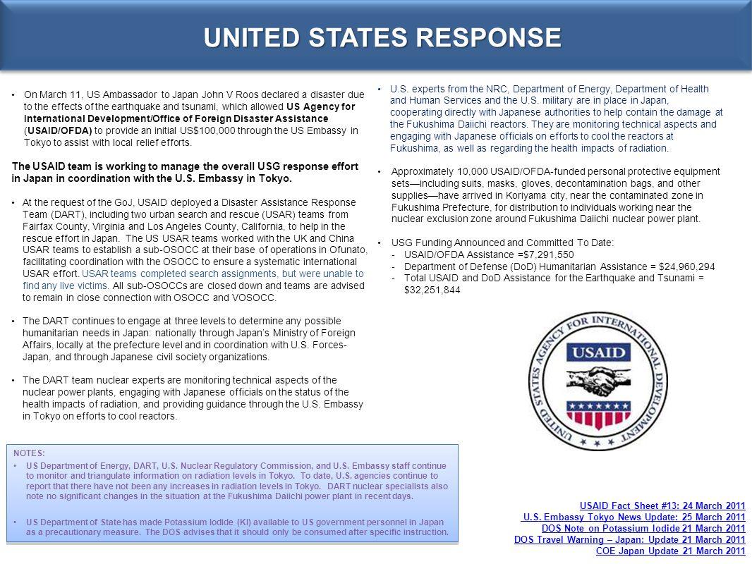 UNITED STATES RESPONSE