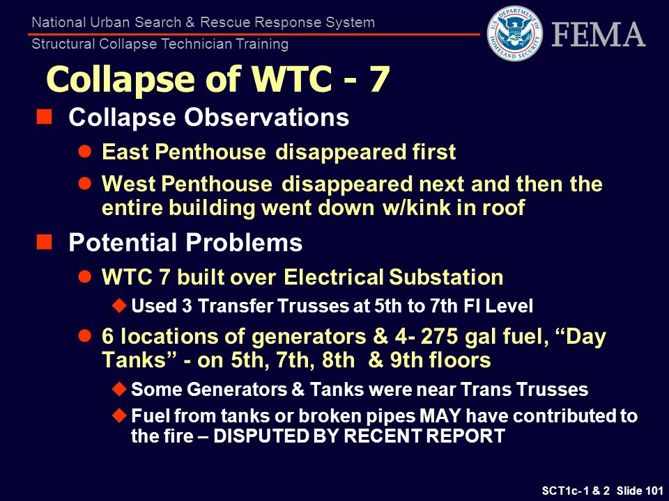 Collapse of WTC - 7 Collapse Observations Potential Problems