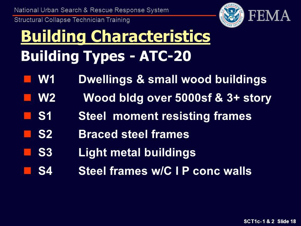 Building Characteristics Building Types - ATC-20