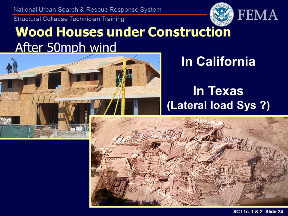 Wood Houses under Construction After 50mph wind