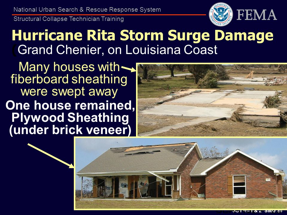 Hurricane Rita Storm Surge Damage (Grand Chenier, on Louisiana Coast