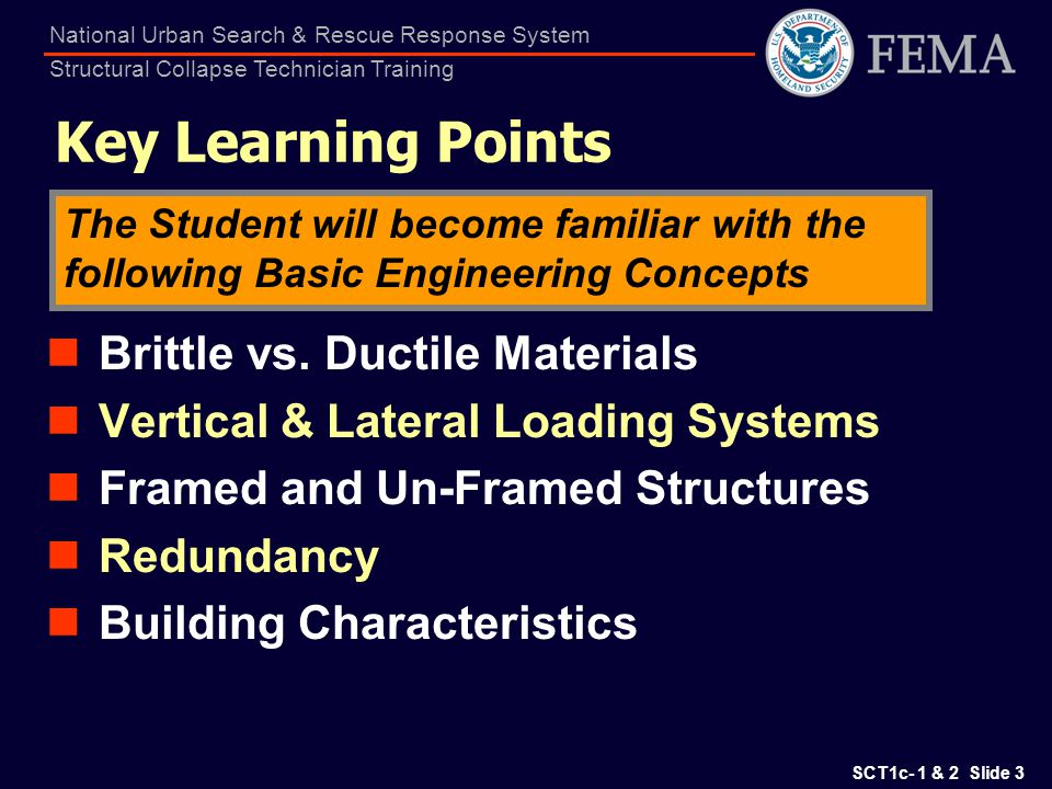 Key Learning Points Brittle vs. Ductile Materials