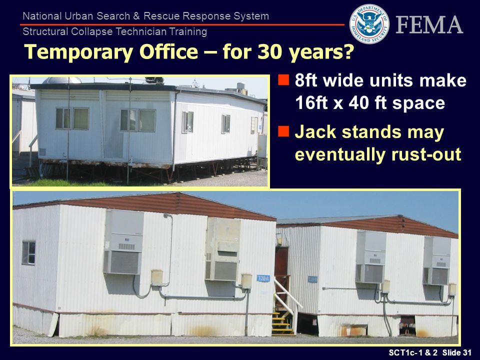 Temporary Office – for 30 years