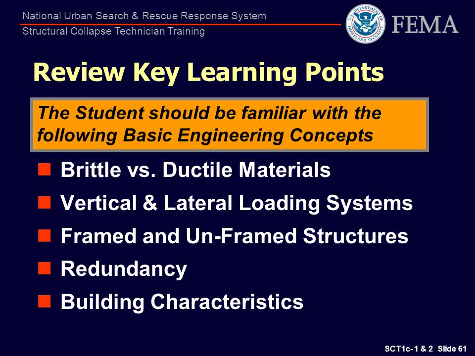 Review Key Learning Points