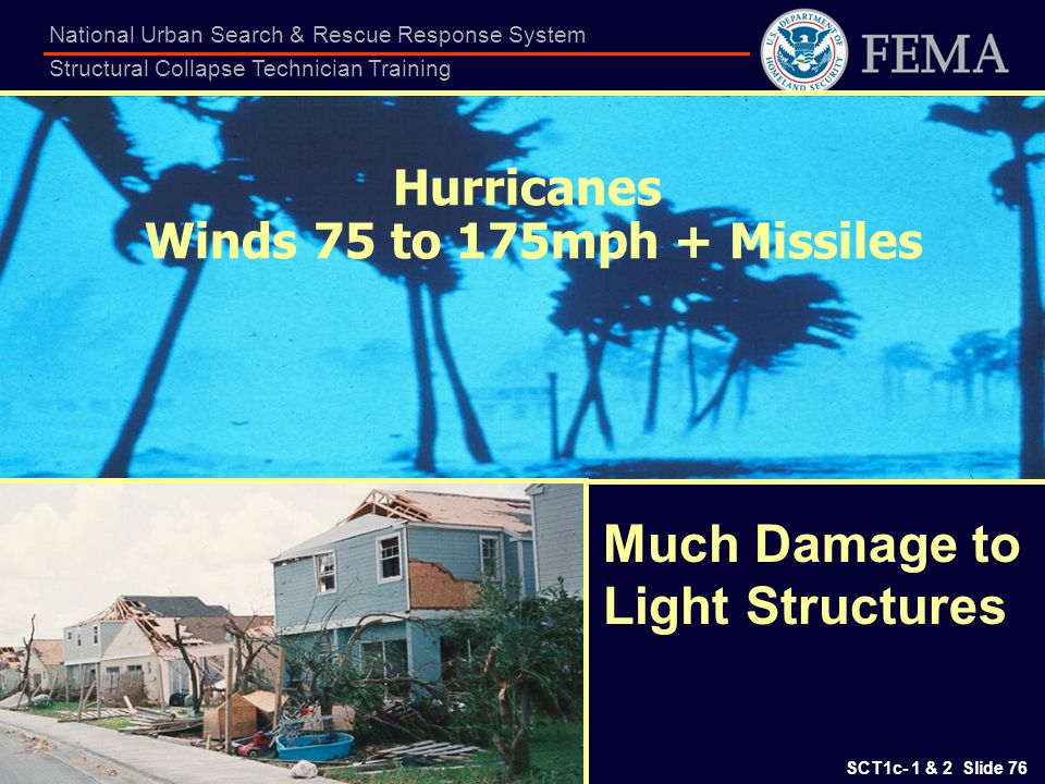 Hurricanes Winds 75 to 175mph + Missiles