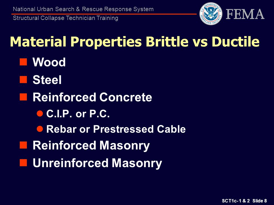 Material Properties Brittle vs Ductile