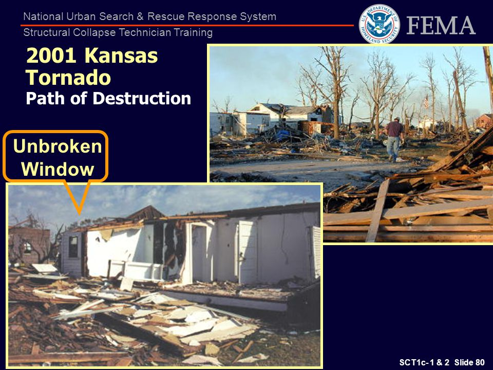 2001 Kansas Tornado Path of Destruction