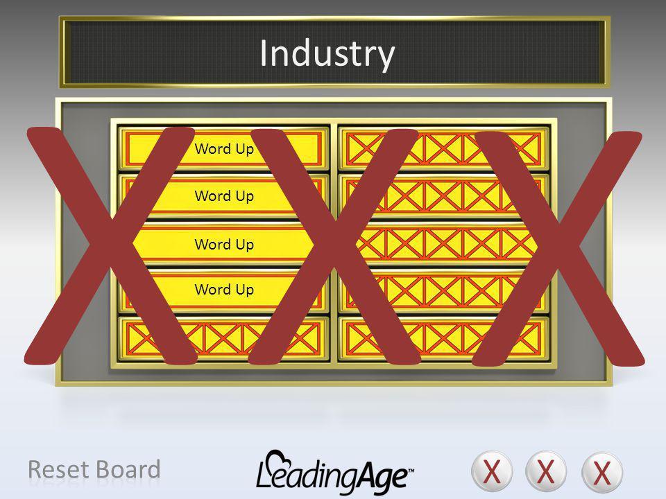 X X X X X X Industry X X X Reset Board Field Profession Mission