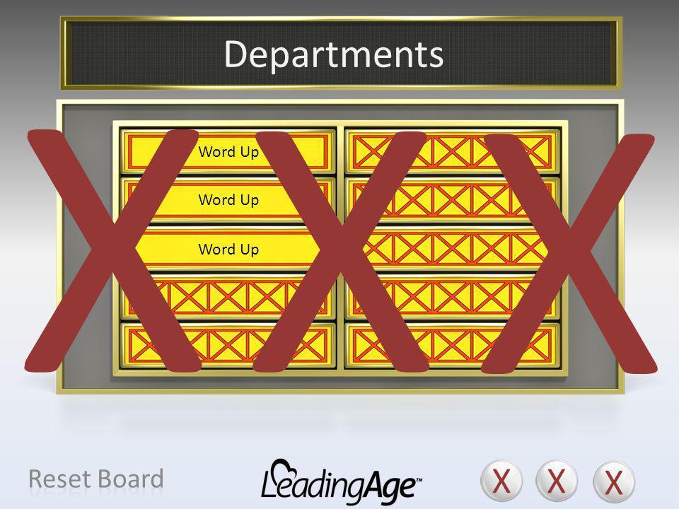 X X X X X X Departments X X X Reset Board Teams Neighborhoods