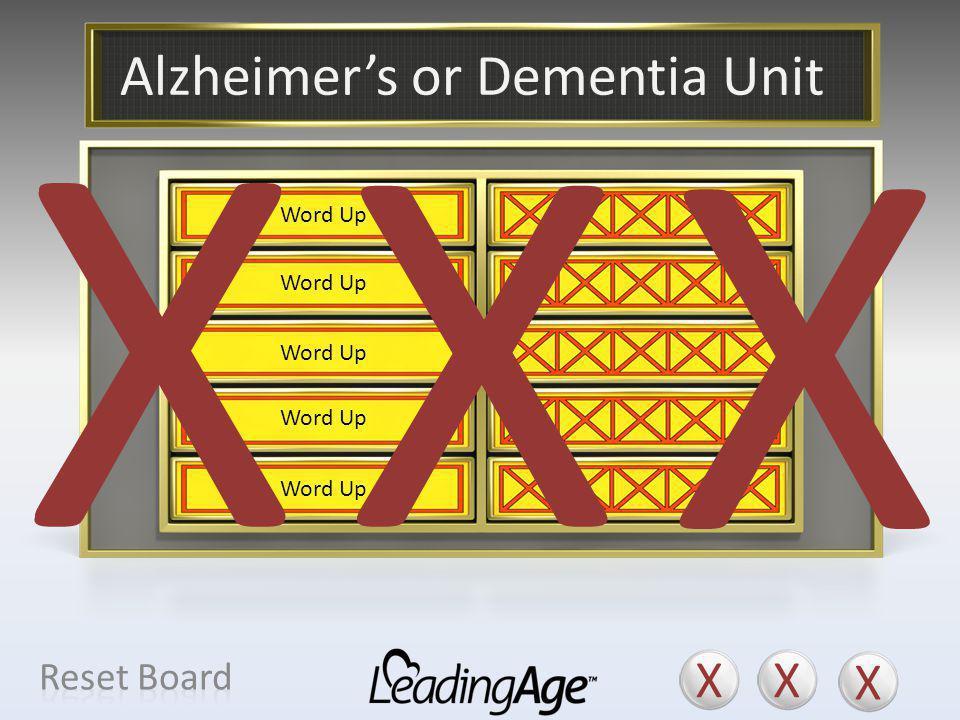 Alzheimer's or Dementia Unit