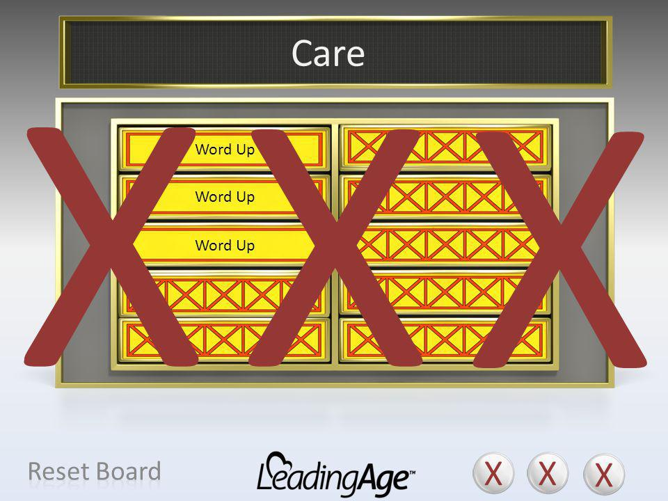 X X X X X X Care X X X Reset Board Service Amenity Personal Service(s)