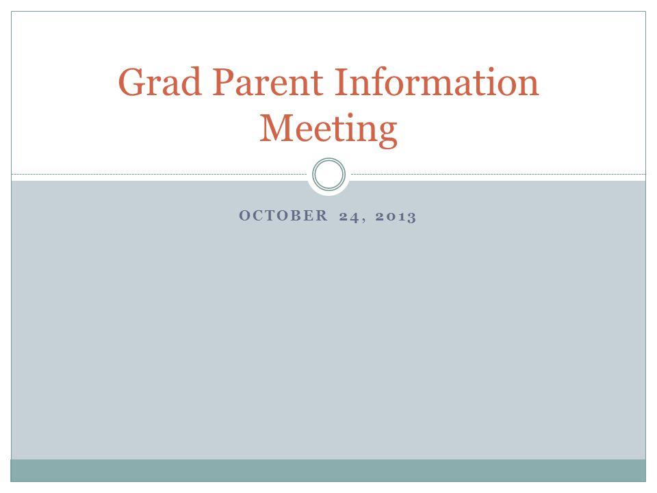 Grad Parent Information Meeting