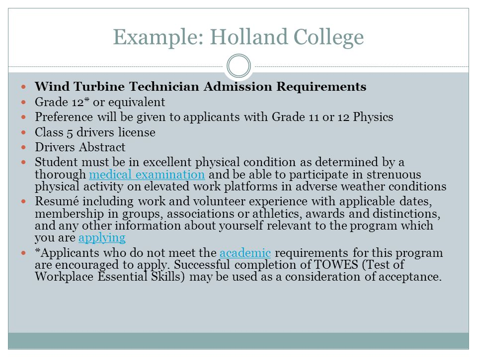 Example: Holland College