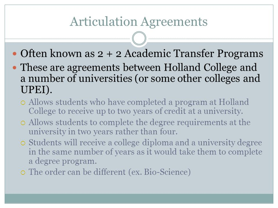 Articulation Agreements