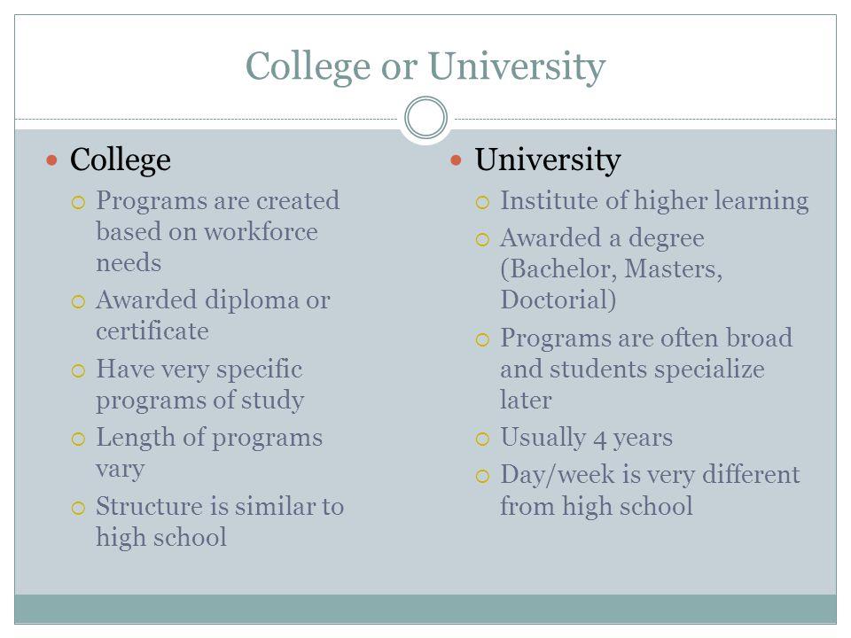 College or University College University
