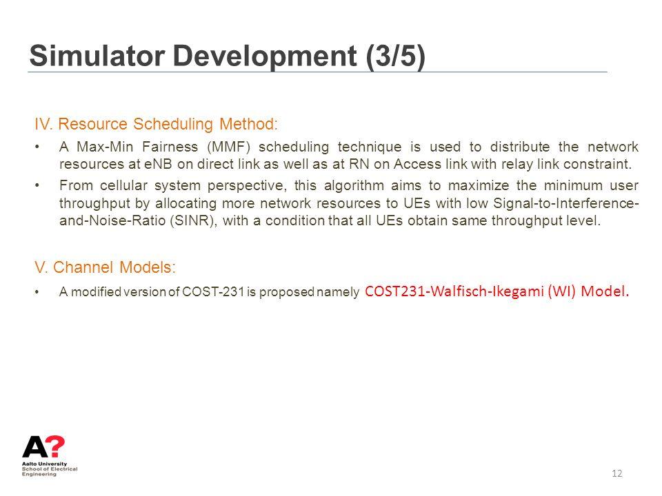 Simulator Development (3/5)