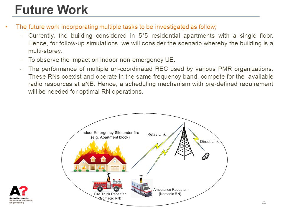 Future Work The future work incorporating multiple tasks to be investigated as follow;