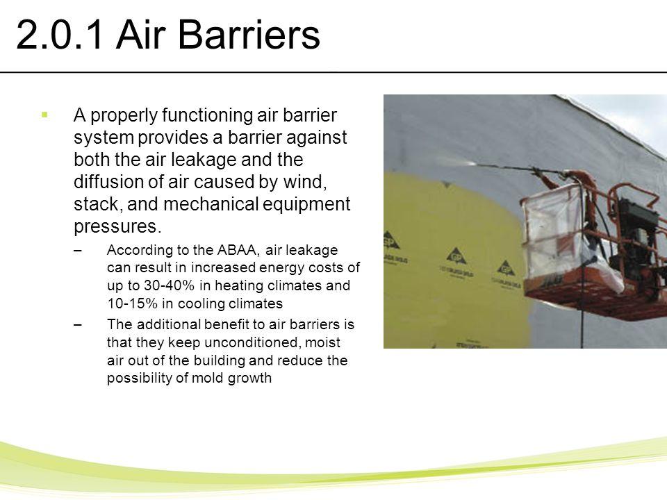 2.0.1 Air Barriers